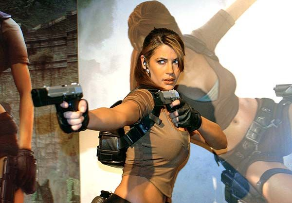 Rhona Mitra as Tomb Raider's Lara Croft
